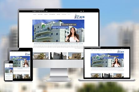 בניית אתר אינטרנט מותאם לנייד עבור חברת פאי - הנדסה ובניין