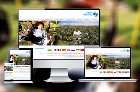 בניית אתר אינטרנט עבור הקרן הישראלית