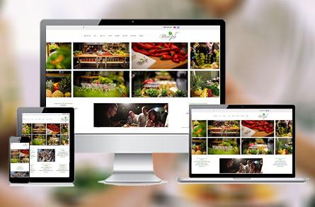 בניה וקידום אתר אינטרנט עבור חברת קייטרינג תלתן