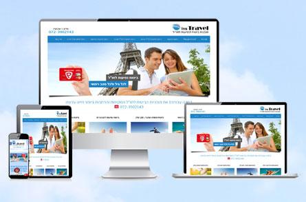"""בניית אתר אינטרנט וקידומו בצורה אורגנית איכותית בגוגל עבור חברת Instravel  ביטוחי נסיעות לחו""""ל"""